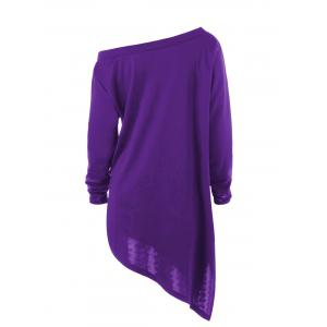 Halloween Plus Size Graphic Asymmetric Skew Neck Sweatshirt -