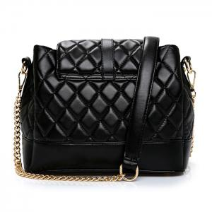 Buckle Strap Quilted Chain Shoulder Bag -