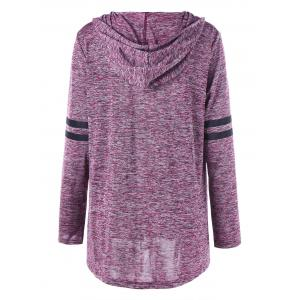 Plus Size Graphic Marled Tunic Hoodie -