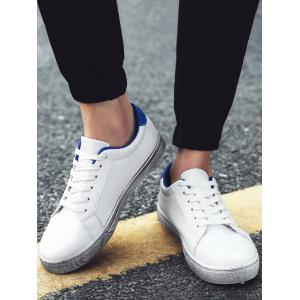 Graphic Faux Leather Sneakers -
