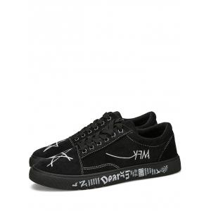 Graphic Print Canvas Sneakers -