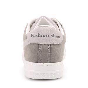 Round Toe Tow-top Faux Suede Skate Shoes -