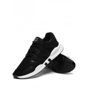 Color Block Mesh Breathable Sneakers -