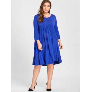 Plus Size Knee Length Empire Waist Dress -