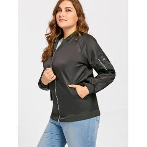 Pochettes taille grande Zip Up Bomber Jacket -