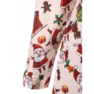 Plus Size Santa Claus  Long Sleeve Christmas Dress -