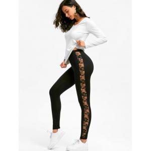 Lace Insert Sport Leggings -