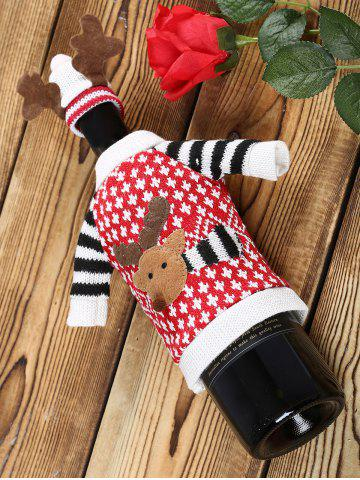 Outfits Cartoon Elk Christmas Sweater Wine Bottle Cover