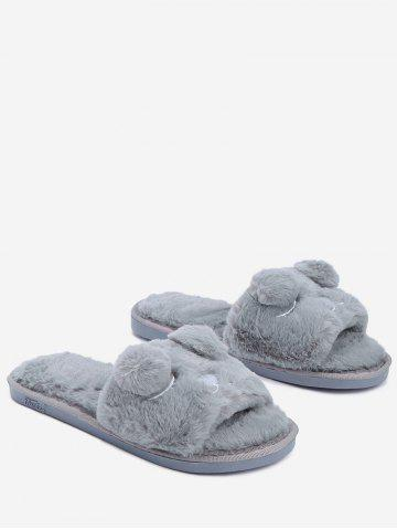 Shop Open Toe Pom Pom Slippers