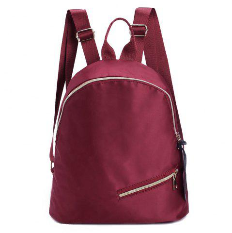 Outfits Nylon Zips Backpack WINE RED