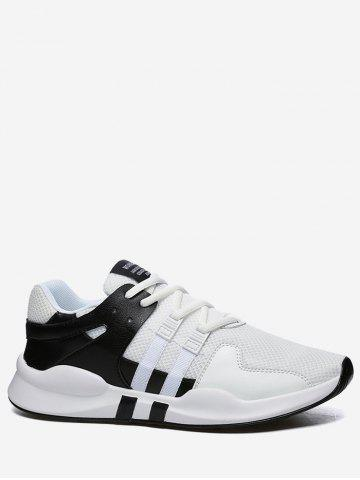 Outfits Color Block Mesh Breathable Sneakers - 40 BLACK WHITE Mobile
