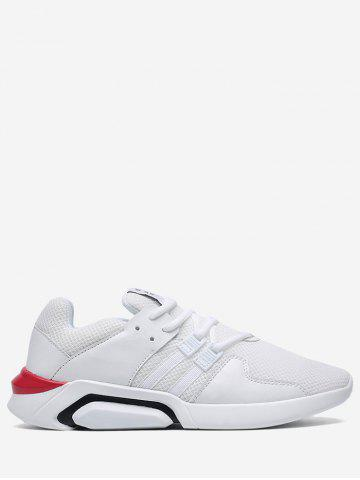 Outfit Color Block Mesh Athletic Shoes WHITE 43