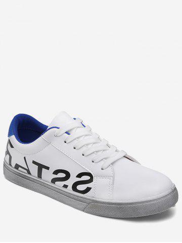 Discount Graphic Faux Leather Sneakers BLUE 43