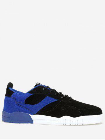 Outfit Color Block Faux Suede Sneakers - 40 ROYAL Mobile