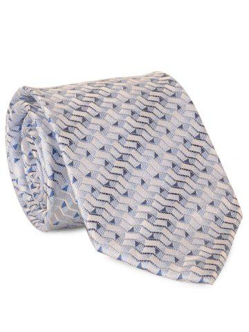 Outfit 8.5CM Width Tie with Paper Folding Jacquard - AZURE  Mobile