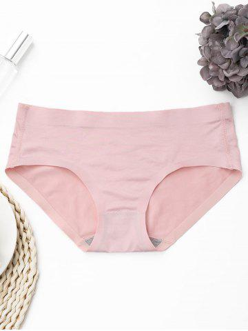 Chic Seamless Mid Rise Panties LIGHT PINK ONE SIZE