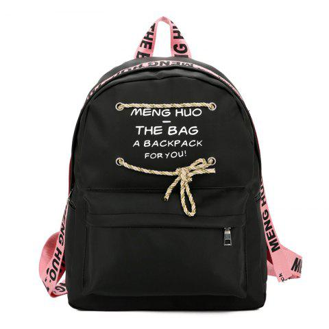 Discount Print String Letter Backpack