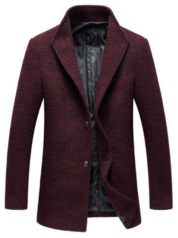 Single Breasted Tweed Wood Blend Coat