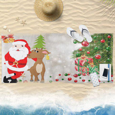 Fancy Cartoon Christmas Elk Santa Claus Bath Towel