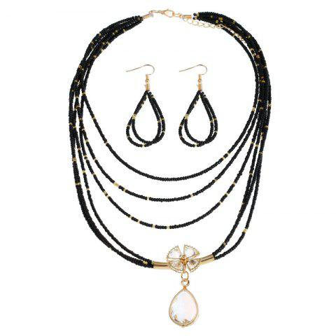 Best Teardrop Flower Beaded Necklace and Earrings