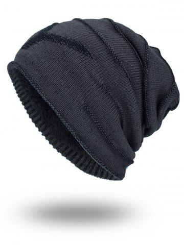 New Double-Deck NY Thicken Knit Hat - DARK GREY  Mobile