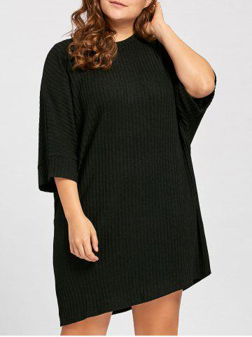 Plus Size Ribbed Knitted Tunic T shirt