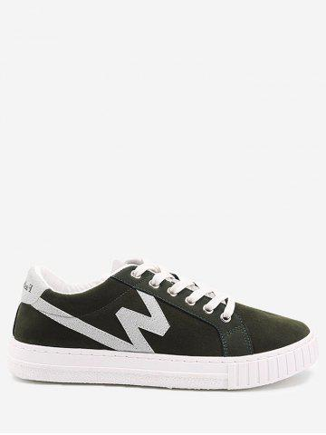 Online Round Toe Tow-top Faux Suede Skate Shoes