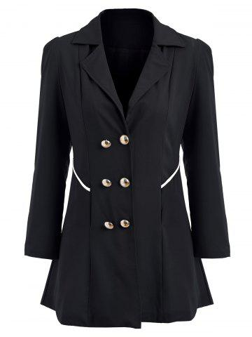 New Double Breasted Swing Trench Coat