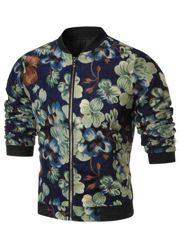 Allover Flower Printed Corduroy Jacket
