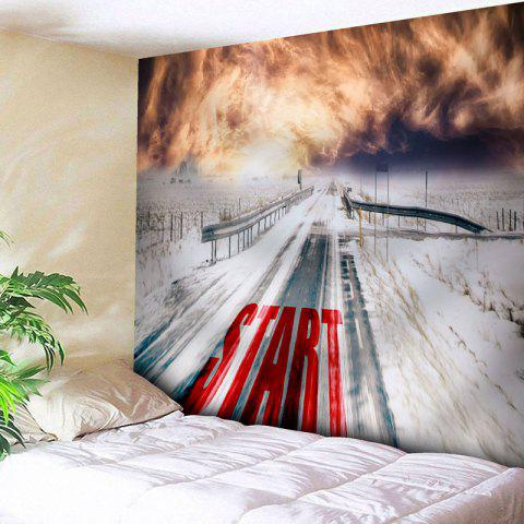 Wall Decor Snowscape Pattern Tapestry