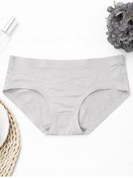 Seamless Mid Rise Panties - GRAY ONE SIZE