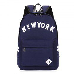 Striped Letter Print Backpack -