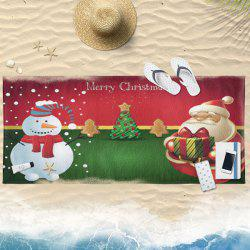 Water Absorption Christmas Graphic Bath Towel -