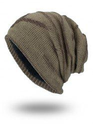Double-Deck NY Thicken Knit Hat - KHAKI