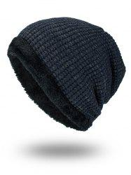 Double-Deck Thicken Knit Hat - PURPLISH BLUE