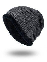 Double-Deck Thicken Knit Hat - GRAY