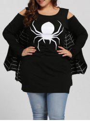 Spider Net Plus Size Halloween Costume - Black - 3xl