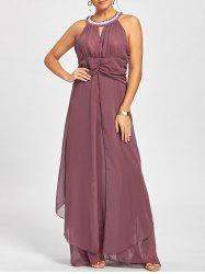 Empire Waist Sleeveless Flowy Cocktail Dress -