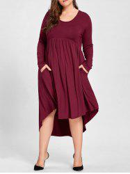 Plus Size Empire Waist High Low T Shirt Dress -