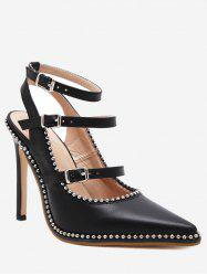 Ankle Strap Buckle Straps Stud Pumps -