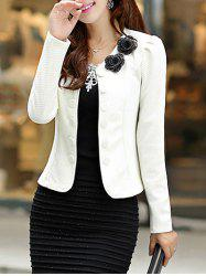 Slim Fit Blazer with Bowknot -