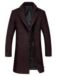 Lapel Single Breasted Wool Mix Coat -