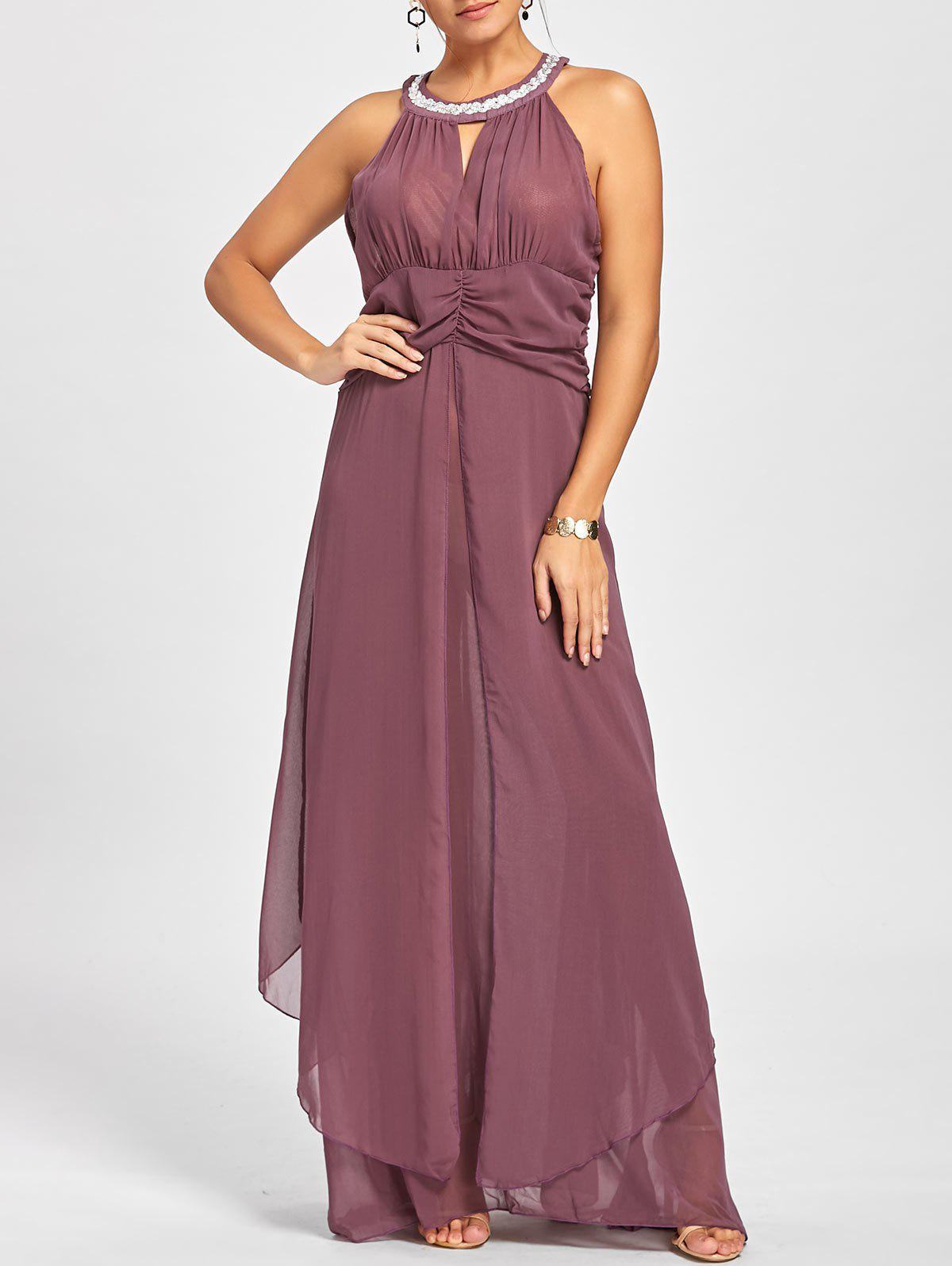 2cf5deda0aaf 89% OFF] Empire Waist Sleeveless Flowy Cocktail Dress | Rosegal