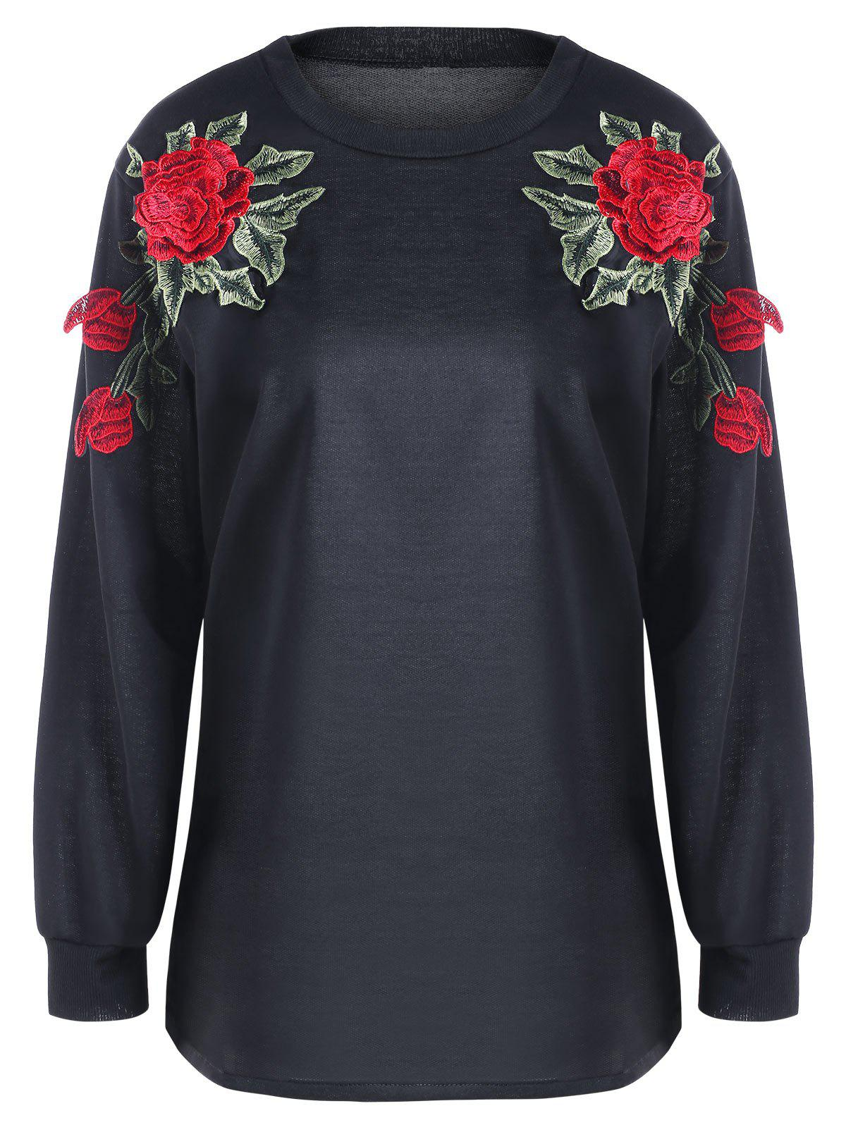 New Flower Embroidery Sweatshirt