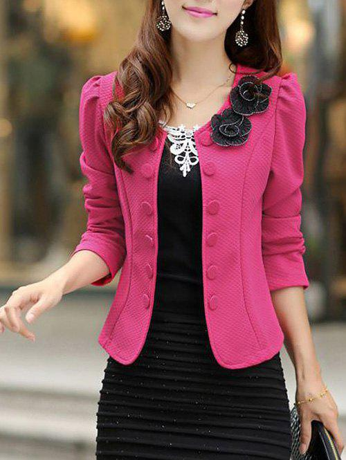 Store Slim Fit Blazer with Bowknot