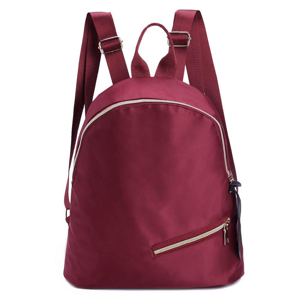 Outfits Nylon Zips Backpack