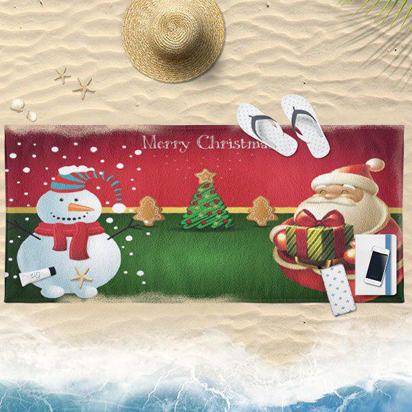 Online Water Absorption Christmas Graphic Bath Towel