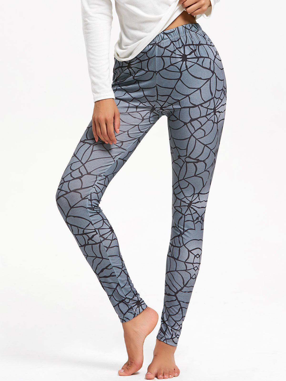 Shop Halloween Spider Web Print Leggings