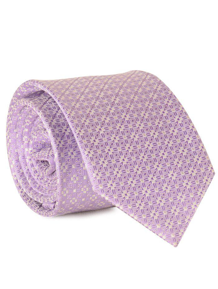 New 7CM Width Tie with Tiny Floral Jacquard