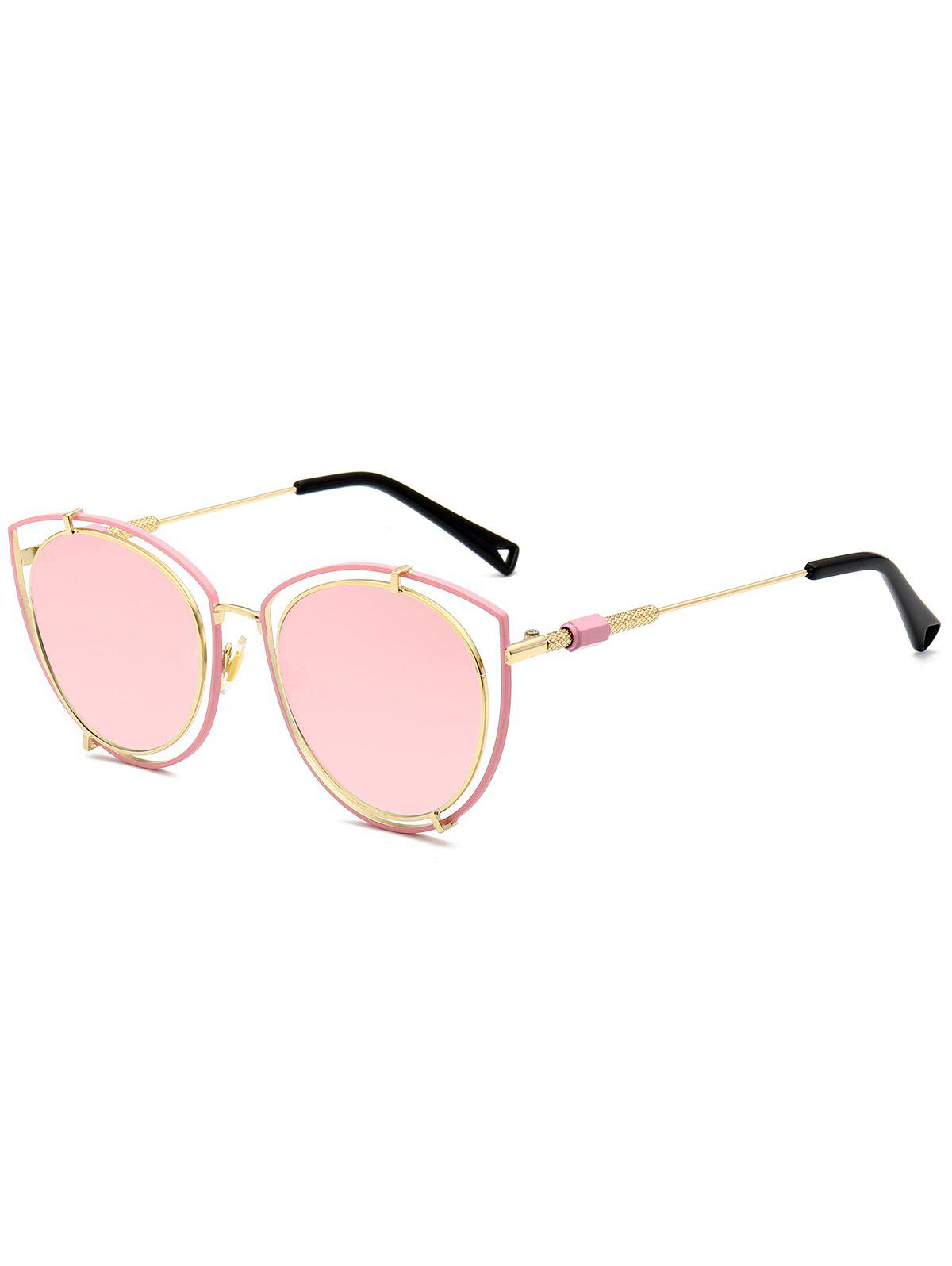 32b515e33f Outfit Double Frame Hollow Out Cat Eye Sunglasses